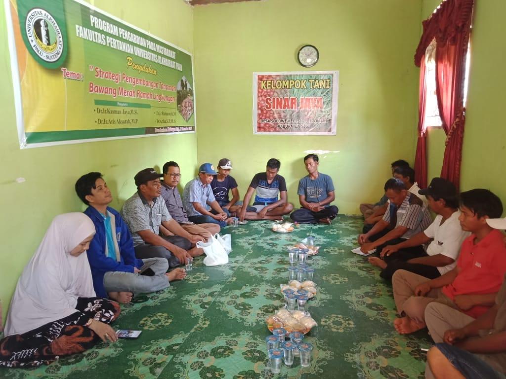 Milad Unisa 30, Fakultas Pertanian Lakukan Penyuluhan di Soulowe Sigi