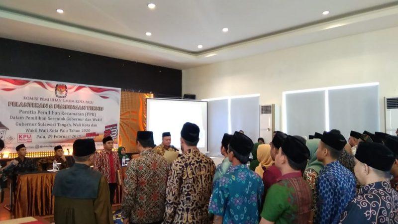 Panitia Pemilihan Kecamatan Dilantik, Ini Pesan Ketua KPU Kota Palu
