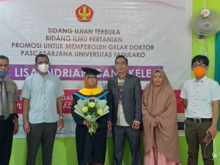Lisa Indriani Bangkele Sukses Raih Gelar Doktor ditengah Pandemi Covid-19
