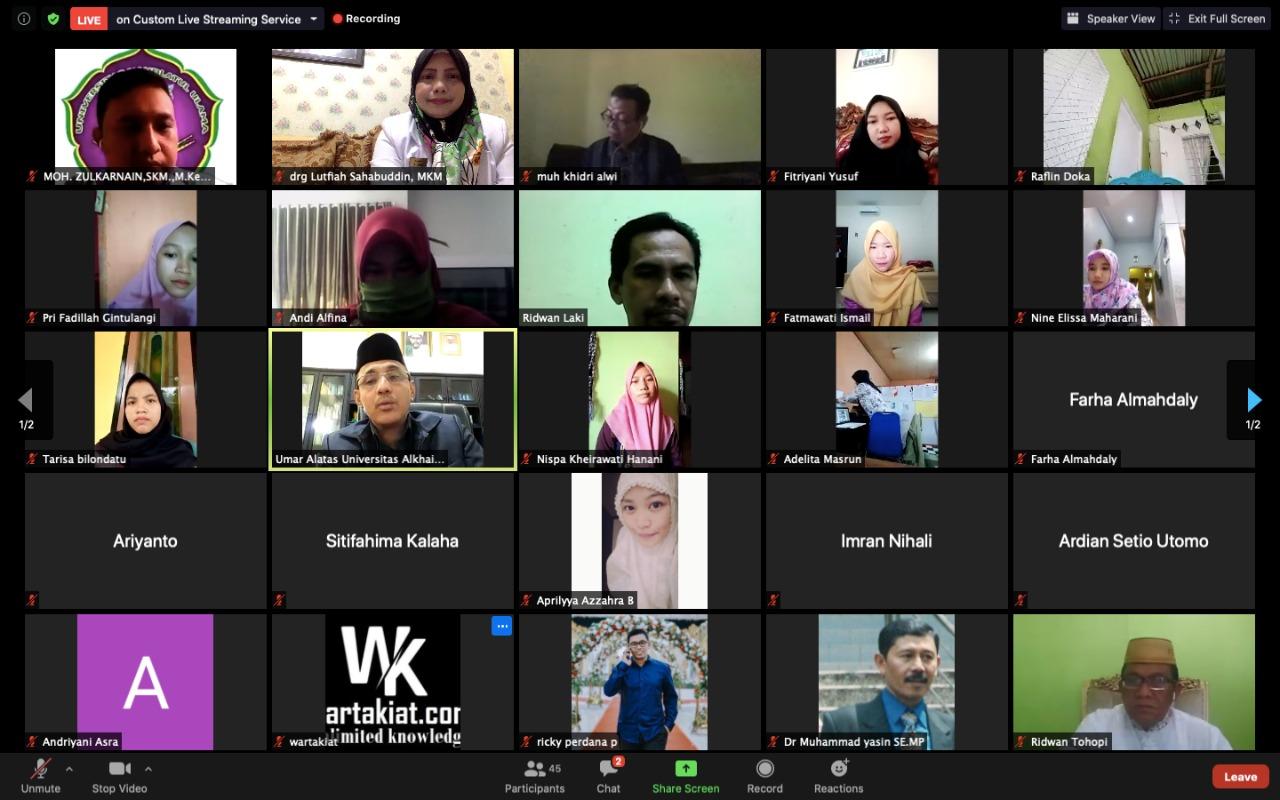 Unisa Palu dan UnuGo  Sukses Gelar Webinar Kesehatan
