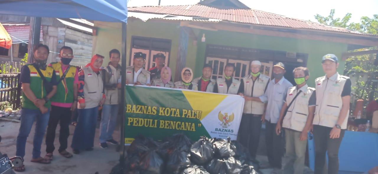 Baznas Kota Palu Salurkan Bantuan Korban Banjir Boyantongo