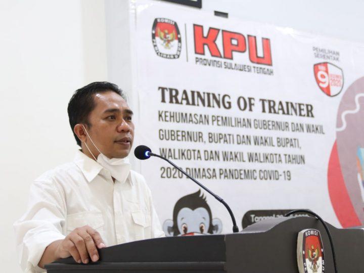 KPU Sulteng Gelar ToT Kehumasan Pemilihan Kepala Daerah Dimasa Pandemi Covid-19