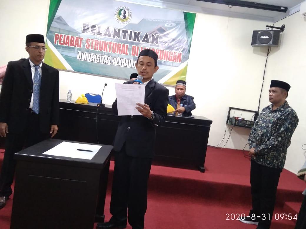 Lantik Dr Arfan, Rektor Optimis Faperta Unisa Akan Berjaya