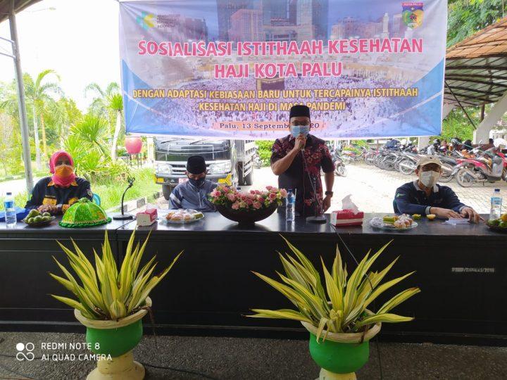 Sosialisasi Istithaah Kesehatan, Jamaah Calon Haji Kota Palu Adaptasi Kebiasaan Baru