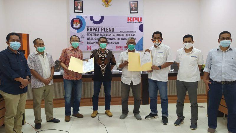 KPU Sulteng Tetapkan Pasangan Rusdy-Ma'mun,Hidayat-Bharto