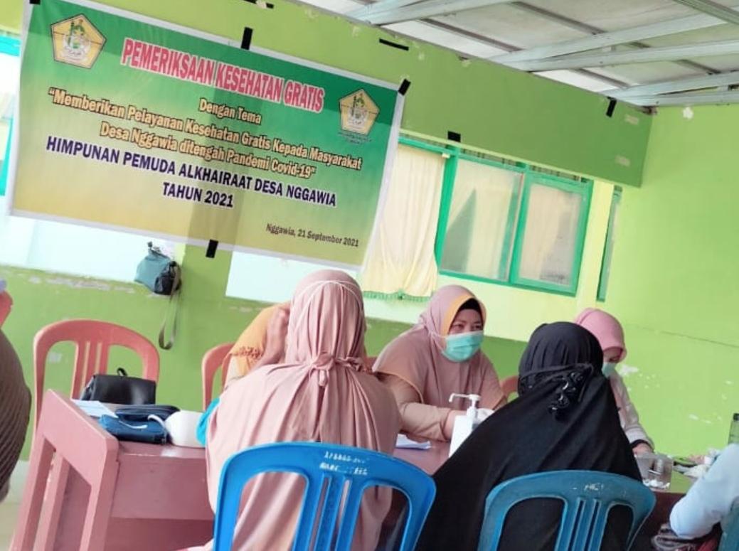 HPA Nggawia Gandeng Puskesmas Tombiano Berikan Pelayanan Kesehatan Gratis